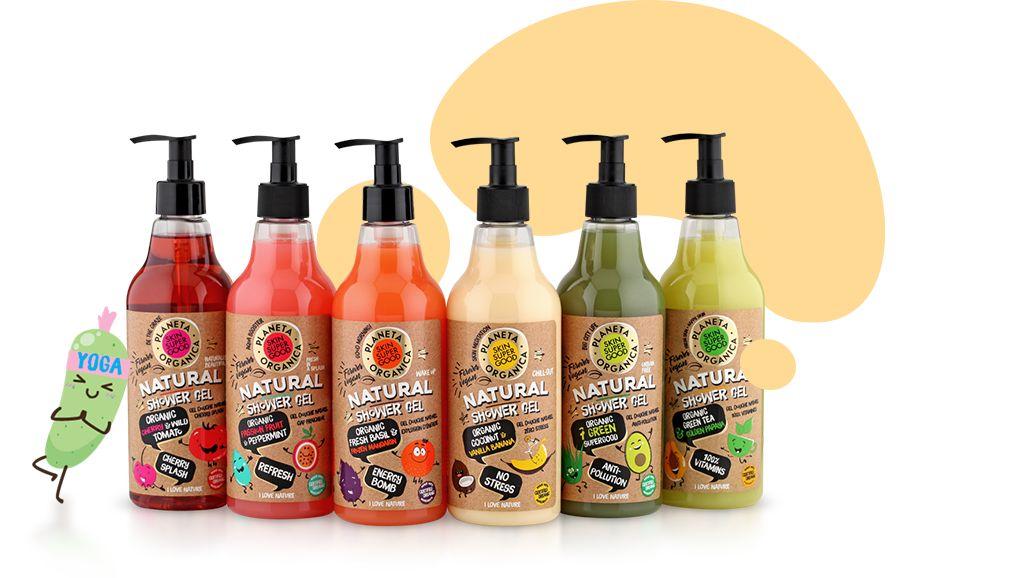 Kolorowe, Organiczne, Fantastyczne żele Super Skin Good
