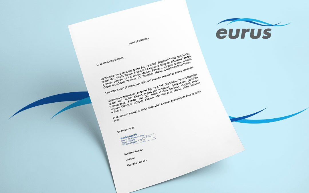EURUS Sp. z o.o. wyłącznym importerem marek kosmetycznych EUROBIO Lab