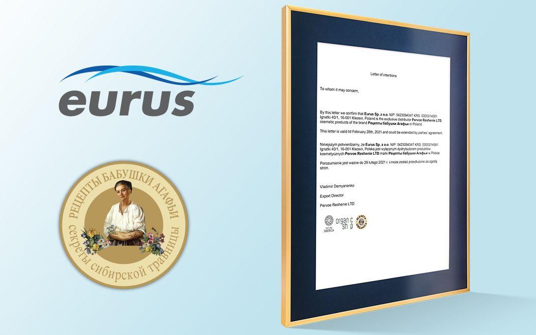 Eurus Sp. z o.o. wyłącznym importerem marki Recepty Babuszki Agafii